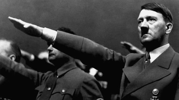 Adolf Hitler giving the Nazi salute during a rally in 1939. (AFP/Getty Images)